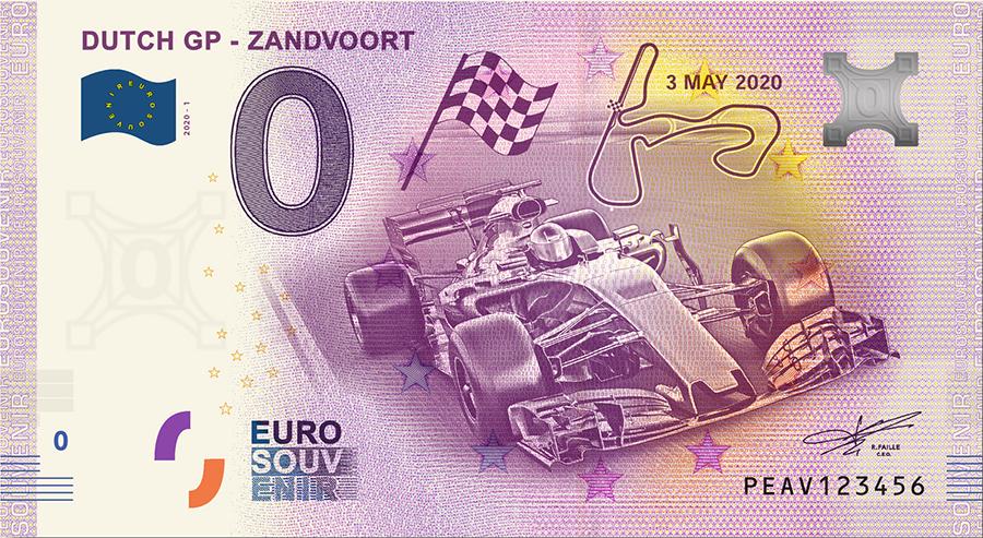 0 Euro souvenir Dutch GP Zandvoort jpeg.jpg
