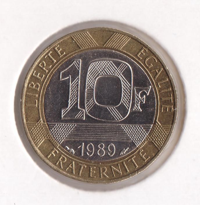 Seltsame Französische 1 Euro Münze Von 1990