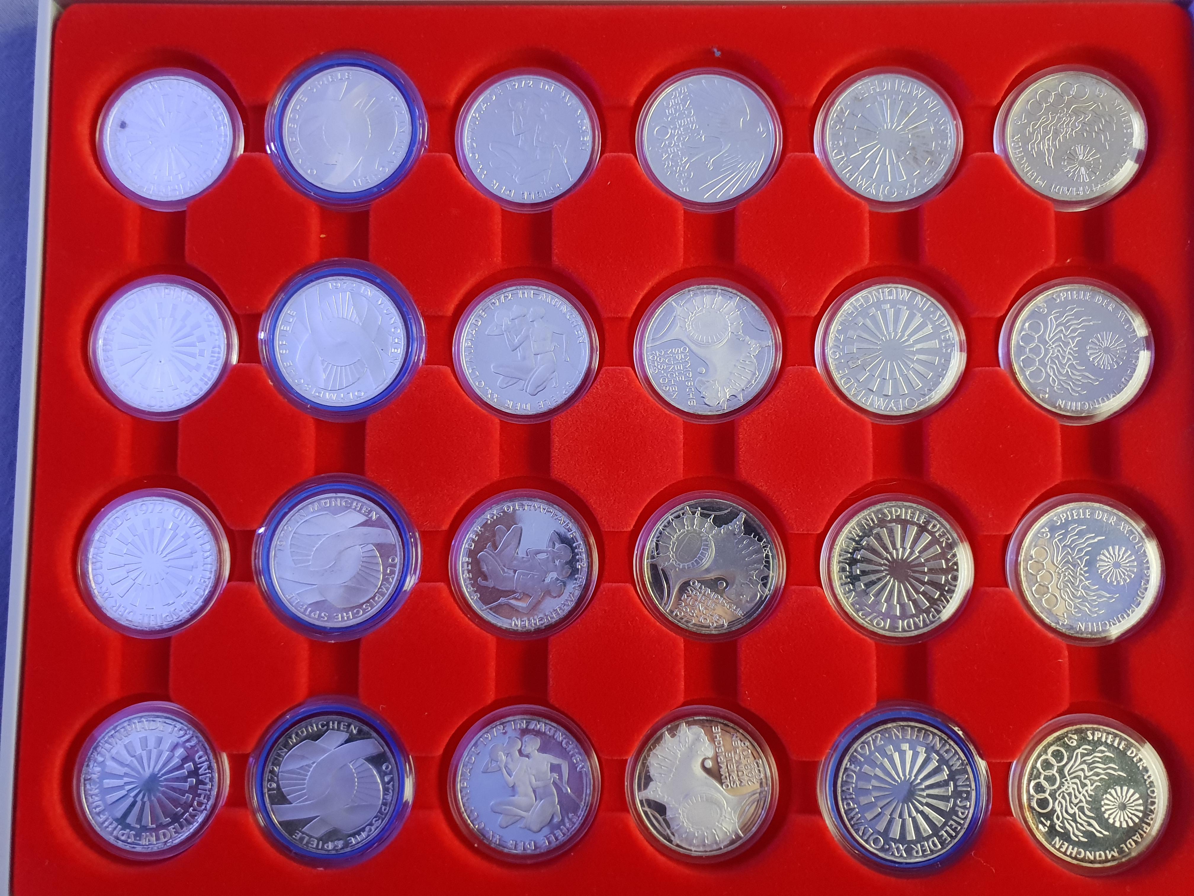 10 Mark Olympische Spiele 1972 Polierte Platte