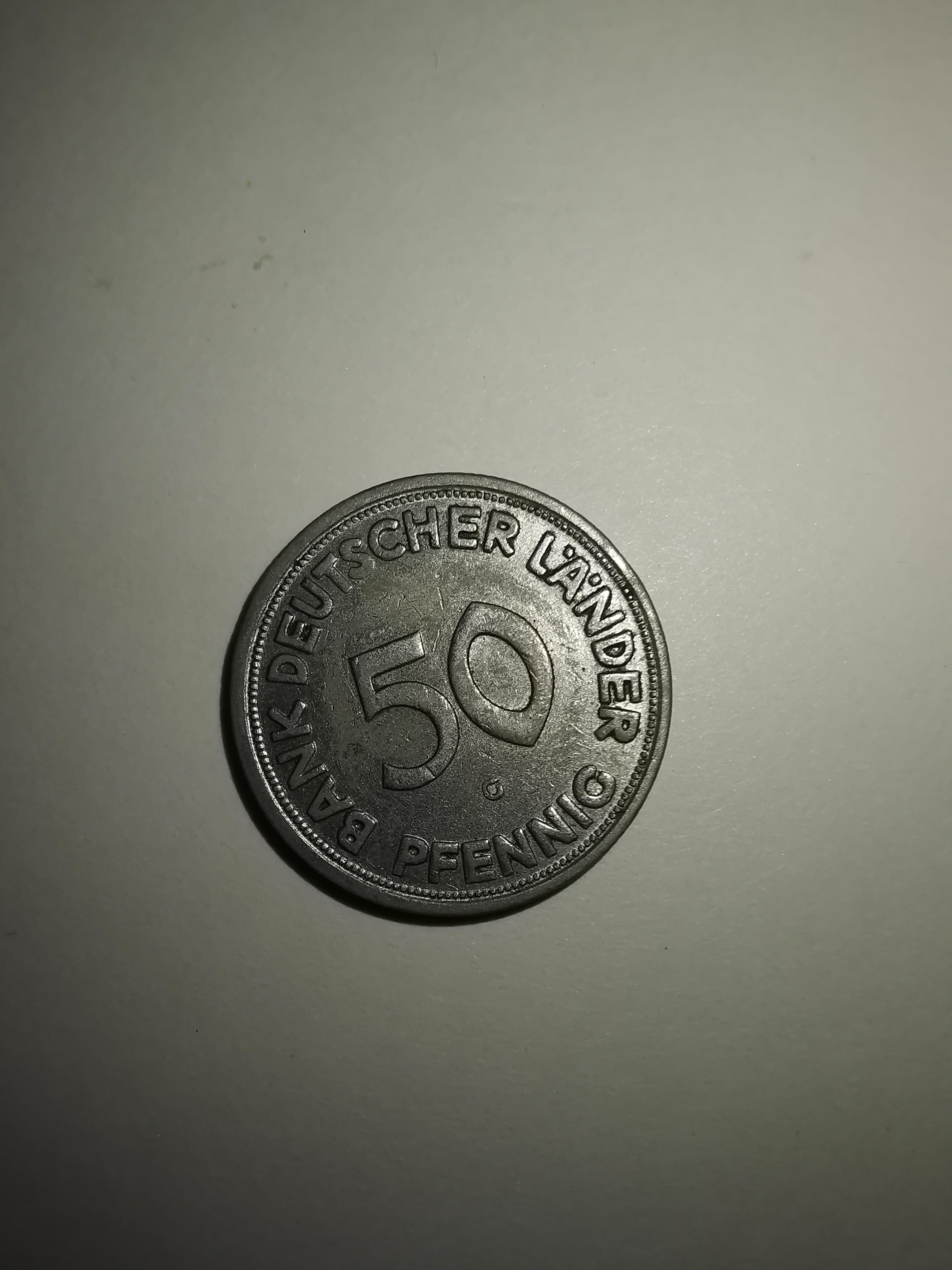 1950 50 Pfennig Fehlprägung Vorderseite.jpg