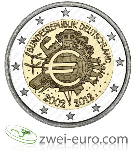 2cc Deutschland 2012 10 Jahre Euro Bargeld
