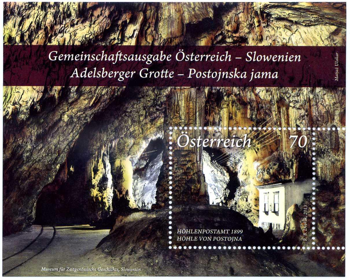 2013 Österreich Briefmarke Postojna.jpg