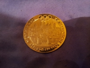 Medaille Gold 3368mm Xx Olympische Sommerspiele München 1972