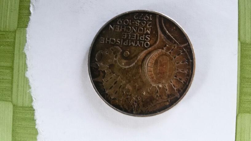 Fehlprägung 10 Mark Olympische Spiele 1972 D Wert