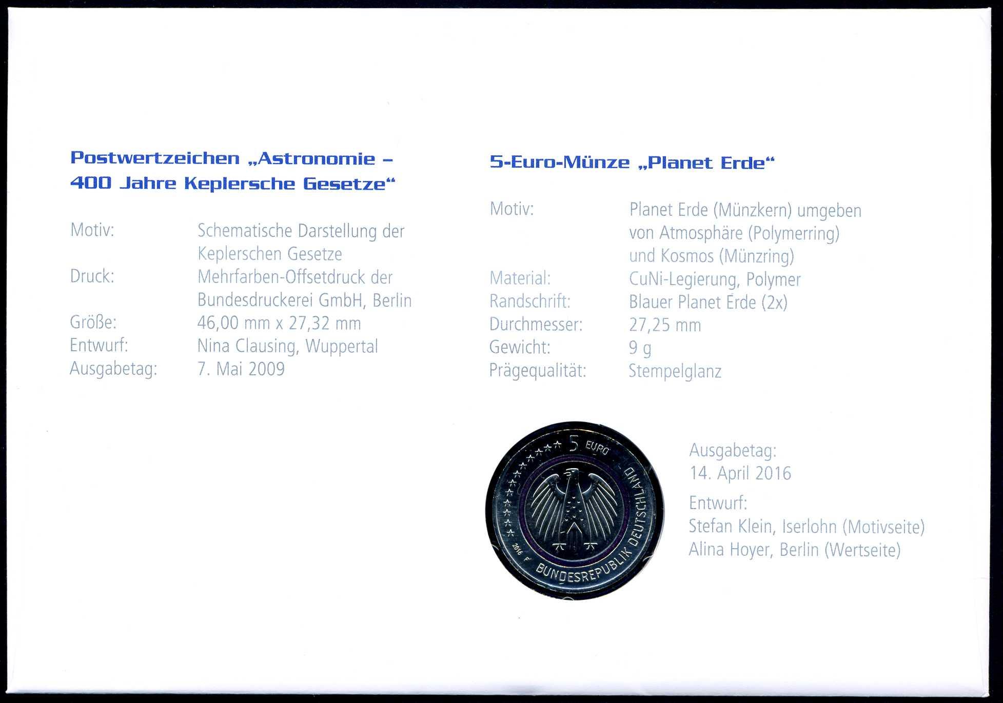 2016 Numisbrief 5 € Planet Erde 2.jpg