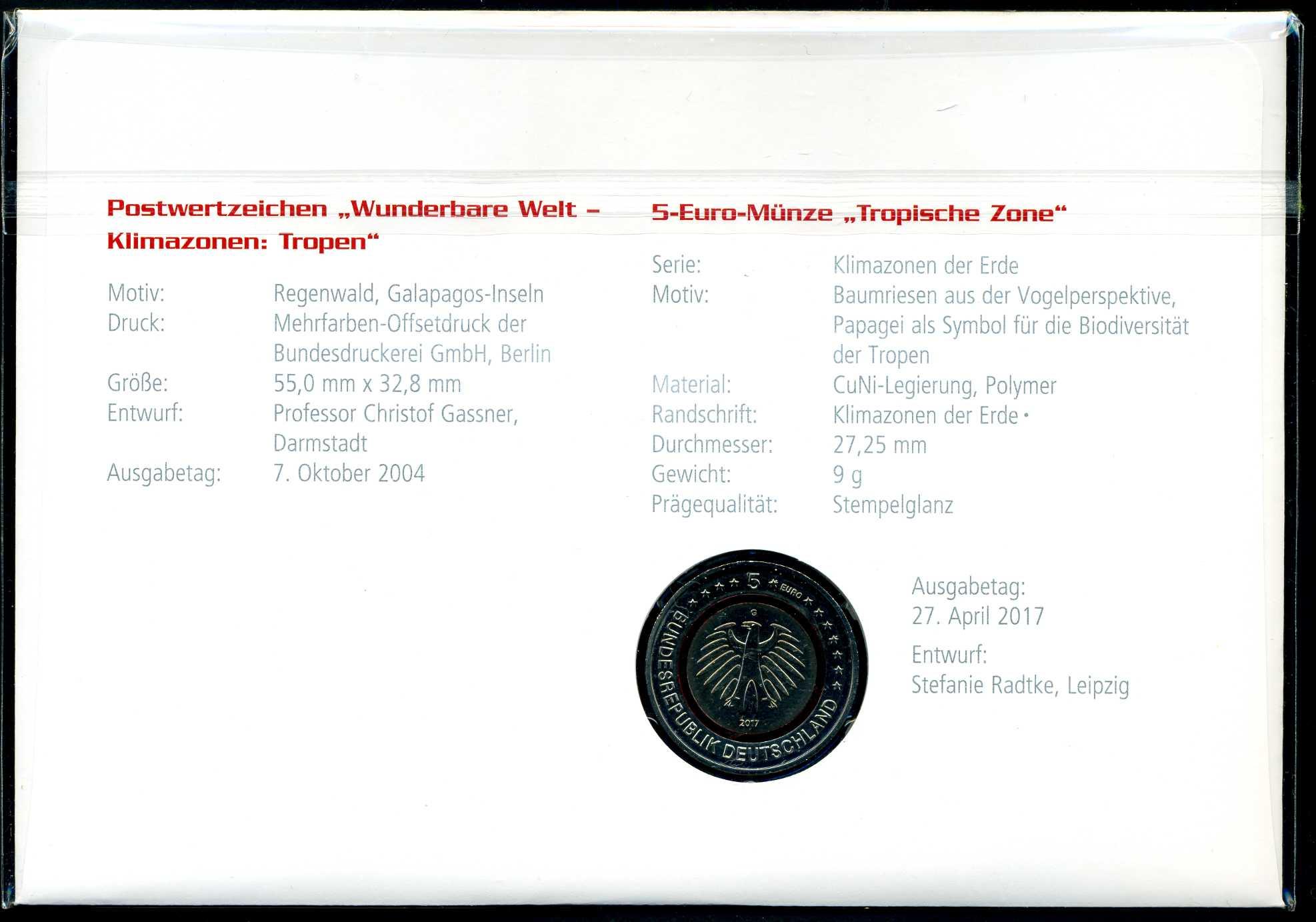 2017 Numisbrief 5 € Tropische Zone 2.jpg