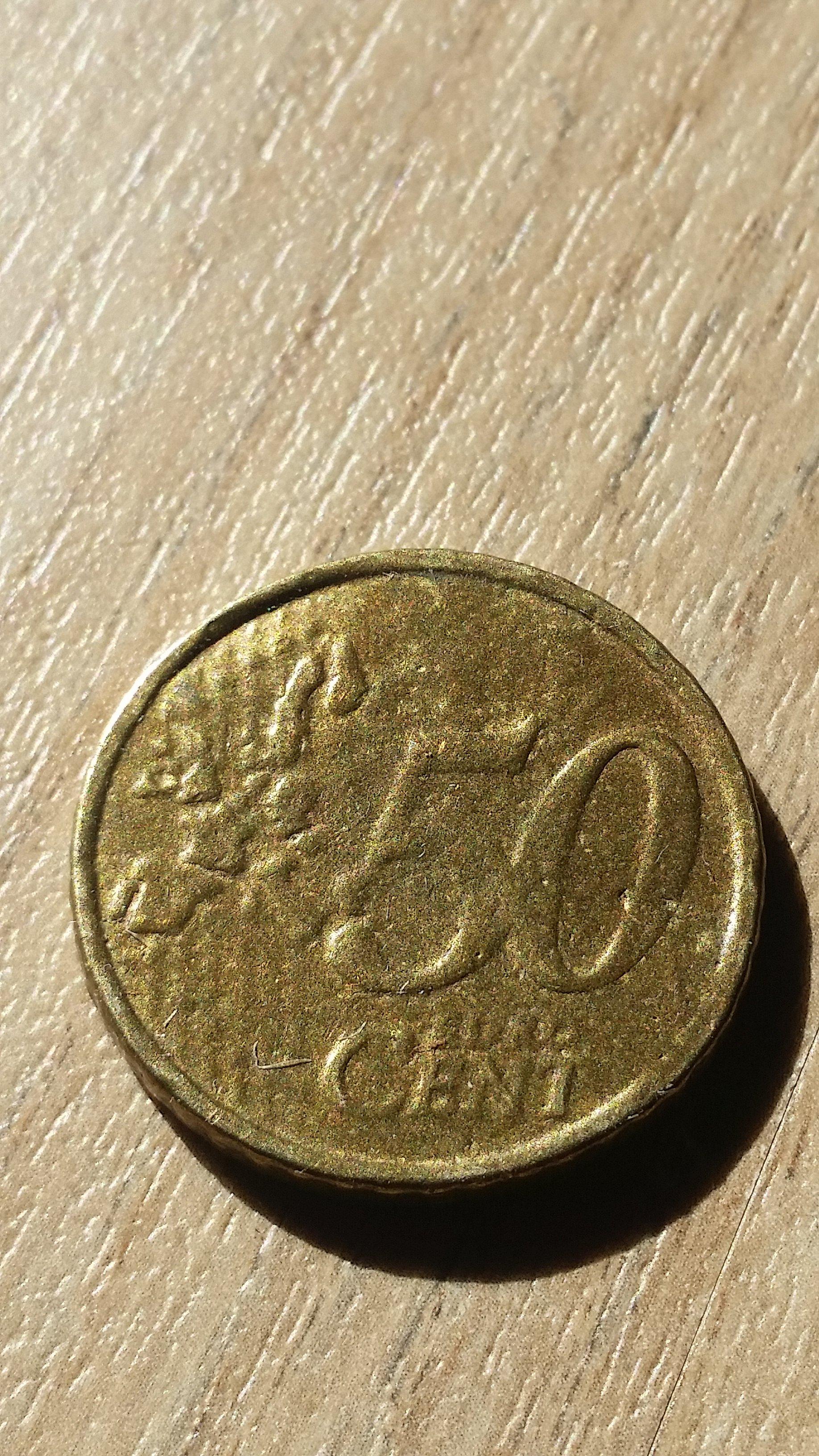 50 Cent Italien 2002 Fehlprägung