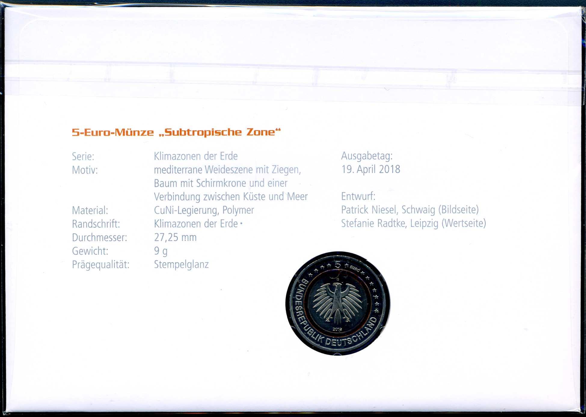 2018 Numisbrief 5 € Subtropische Zone 2.jpg