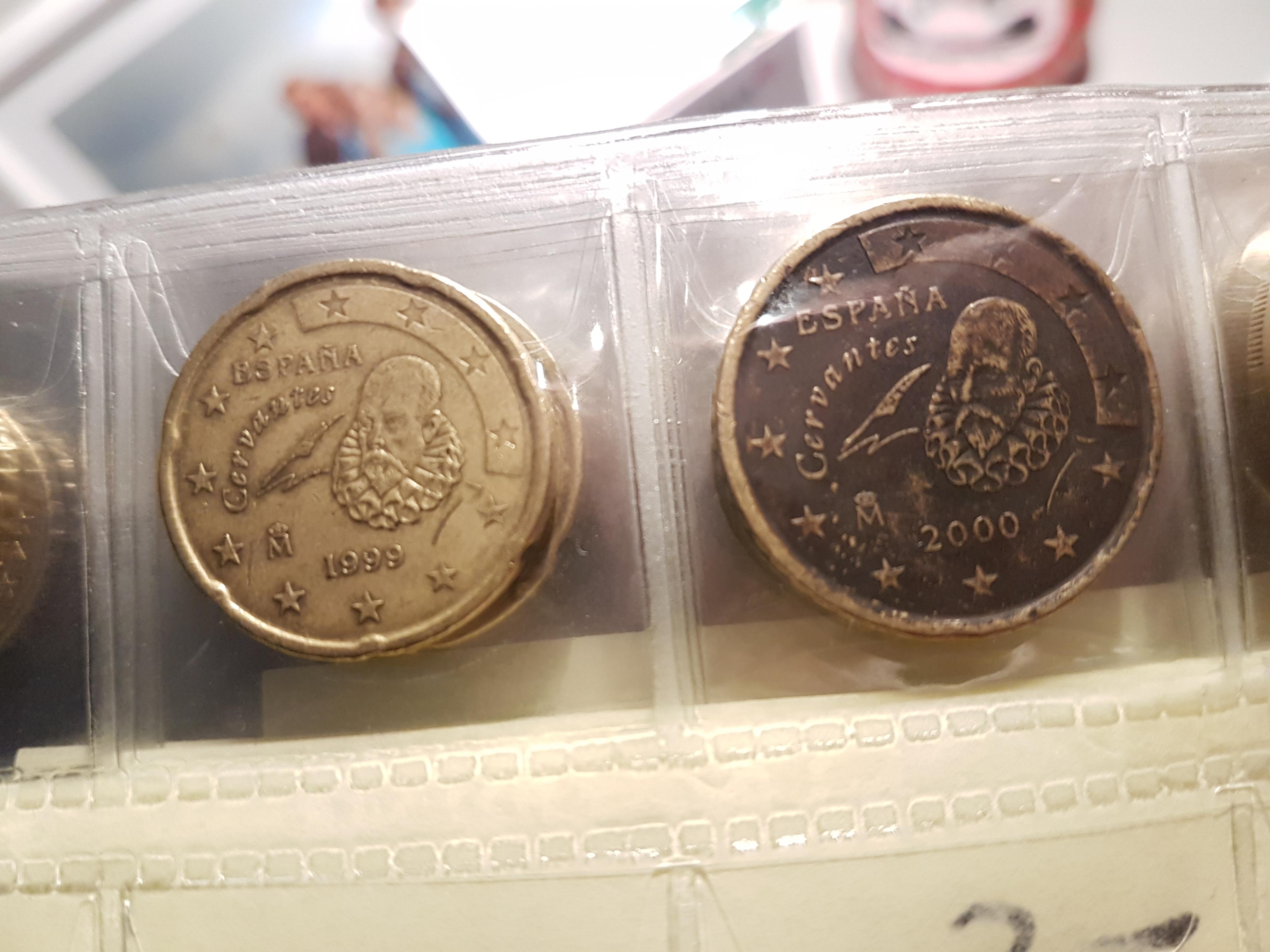 Schwarze Verfärbung Auf Der Rückseite 50 Cent Münze