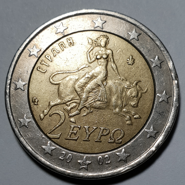 2 2002 Griechenland S Fehlprägung