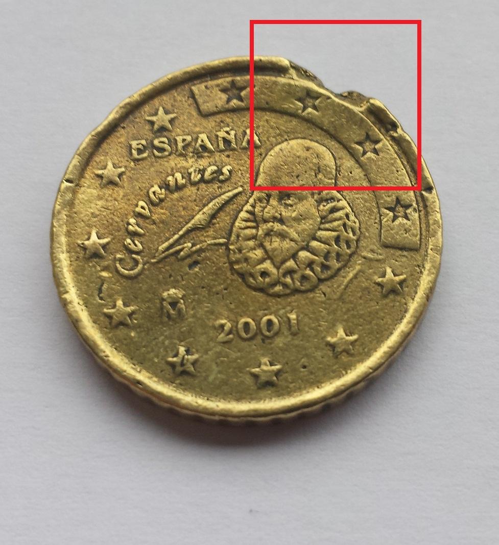 50 Cent Euro Münze Extreme Fehlprägung