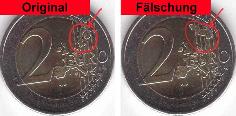 2 Euro Fälschung Spassmünze