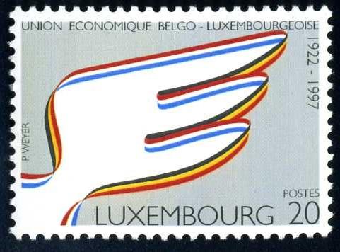 BE 009 1997 Lux. 75 J. Wirtschaftsunion.jpg