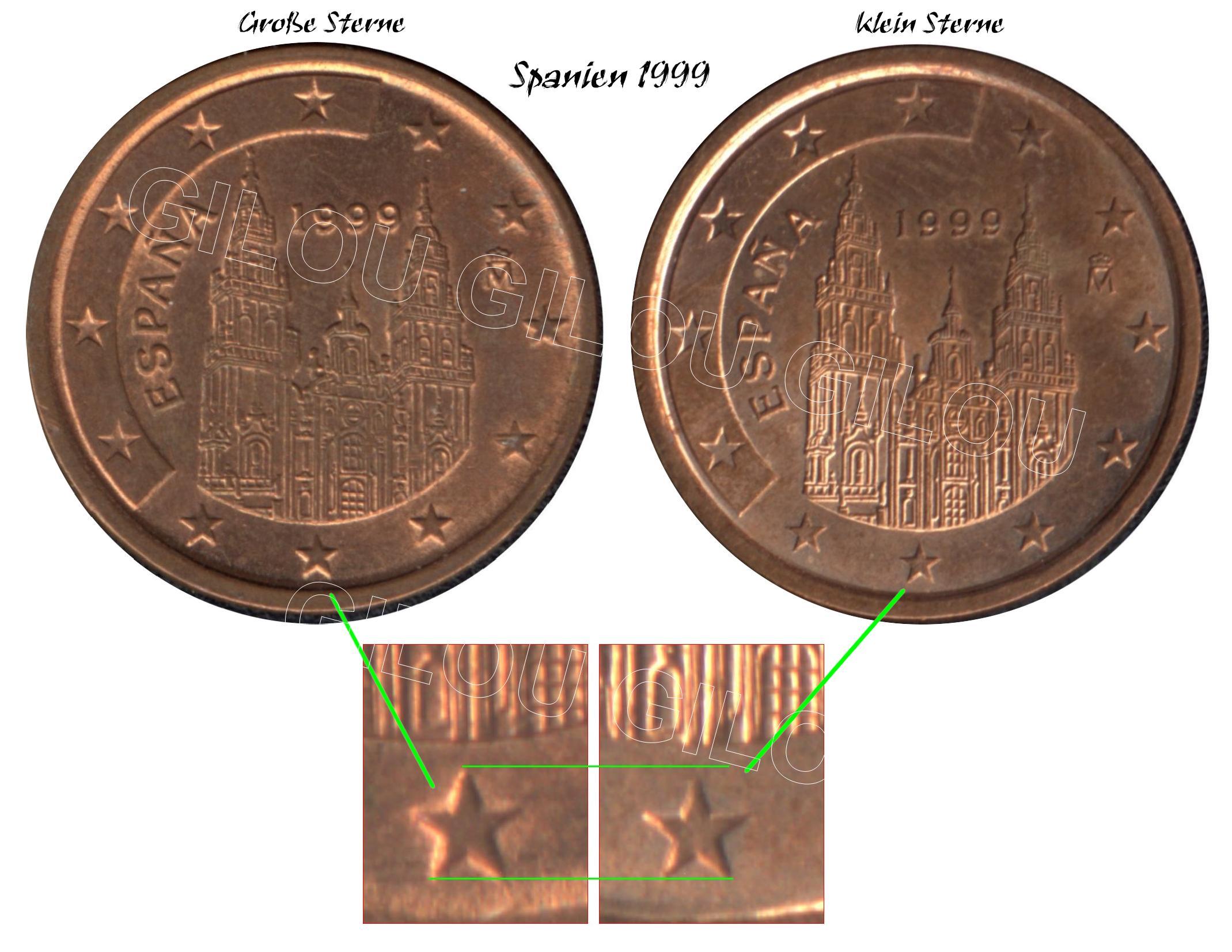 5 Cent Spanien Fehlprägung Oder Variante