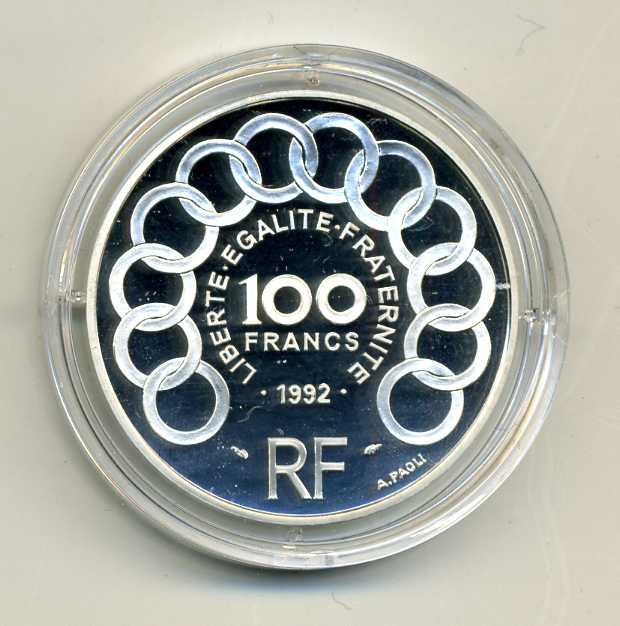 FR 1992 100 FF 15 ECU Monnet 2.jpg