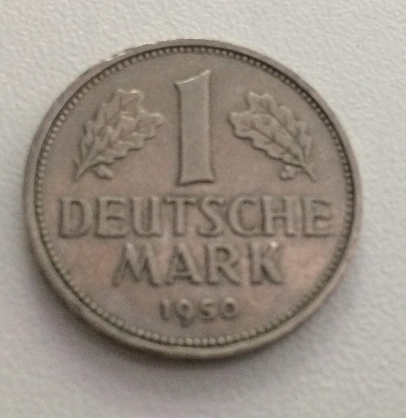 1dm 1949 1955 U 50 Pfennig 1948 1950 1 2 5 Pfennige