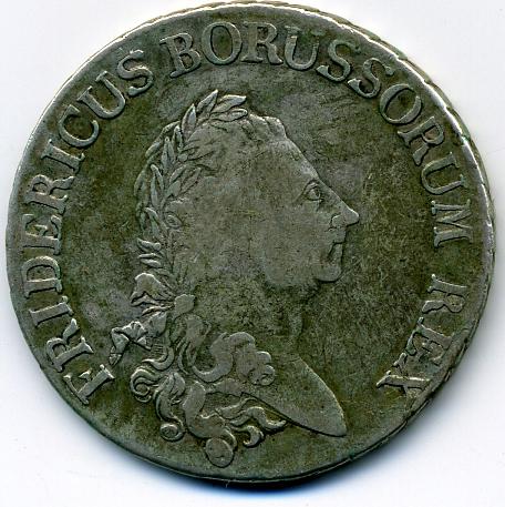 Fridericus Borussorium Rex Ein Reichs Thaler 17a86