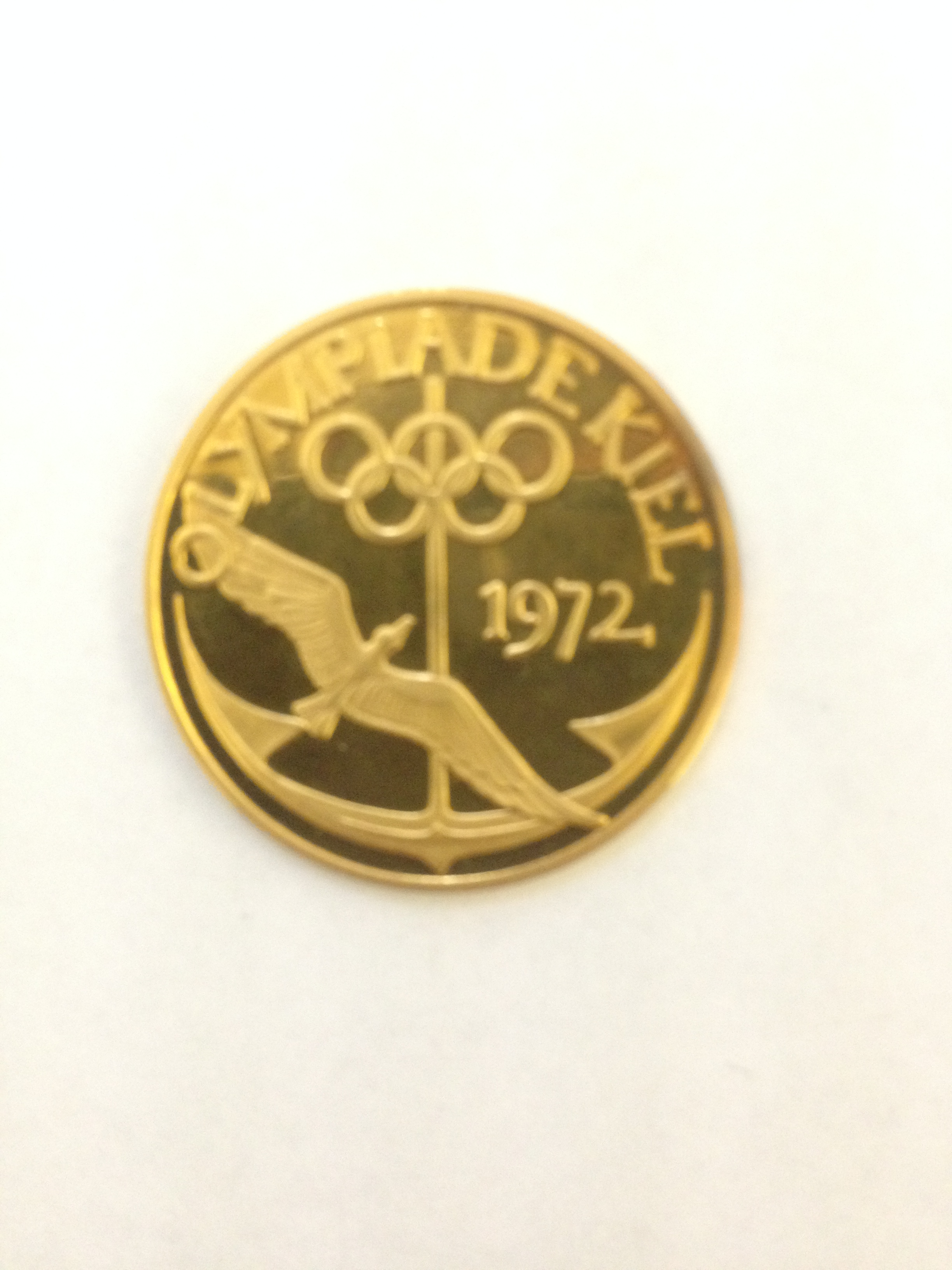Olympiade Kiel 1972 Goldmünze