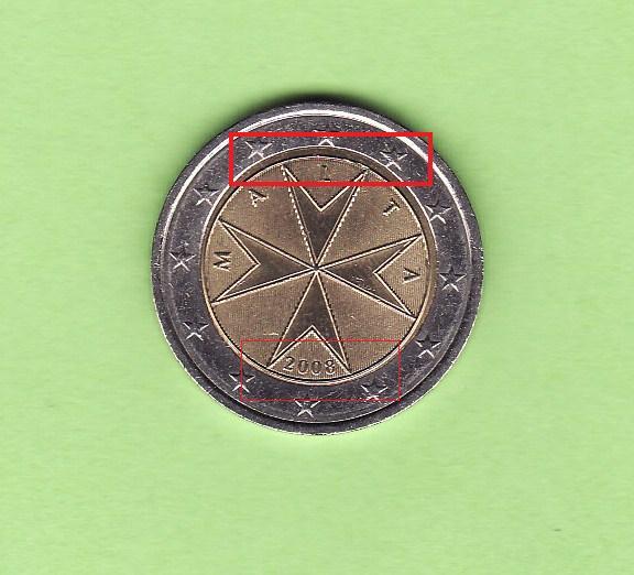 2 Euro Malta 2008 Unzentriert