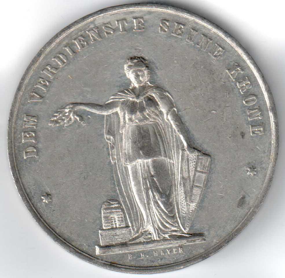 Medaille Pforzheim BH Mayer Ausstellung Handwerk 1878 hinten.jpg