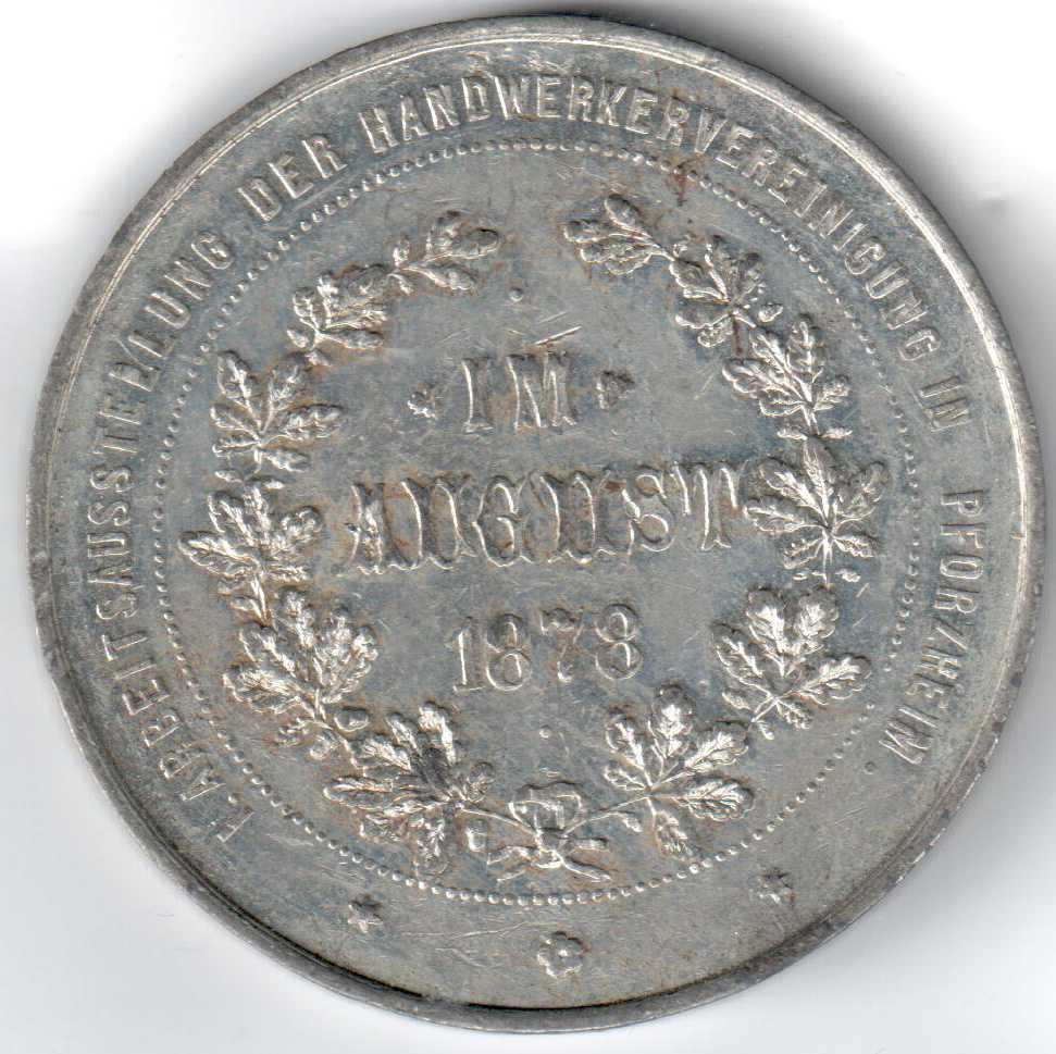 Medaille Pforzheim BH Mayer Ausstellung Handwerk 1878 vorne.jpg