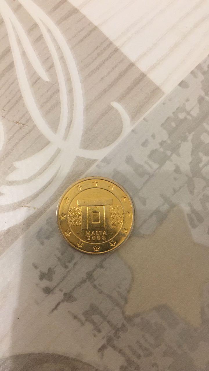 Wertanfrage Vergoldete 2cent Münze Malta 2008