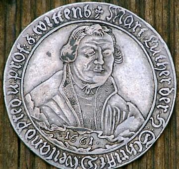 Antike Luther Münze Von 1661 Hilfe