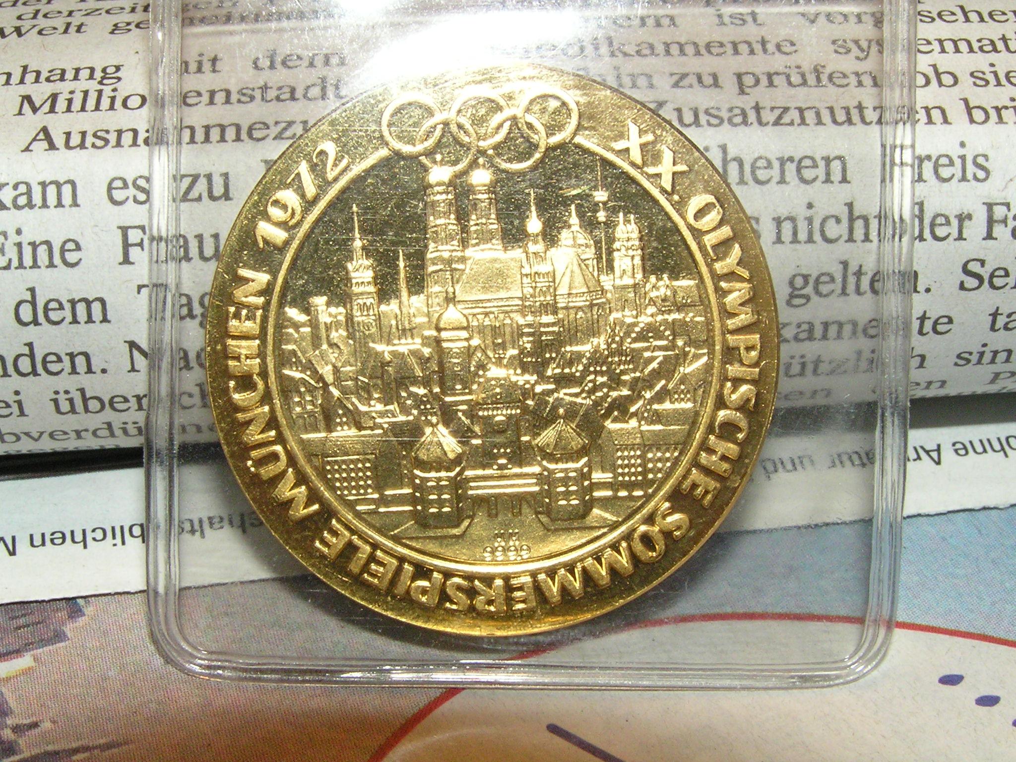 Goldmünze Olympische Spiele 1972