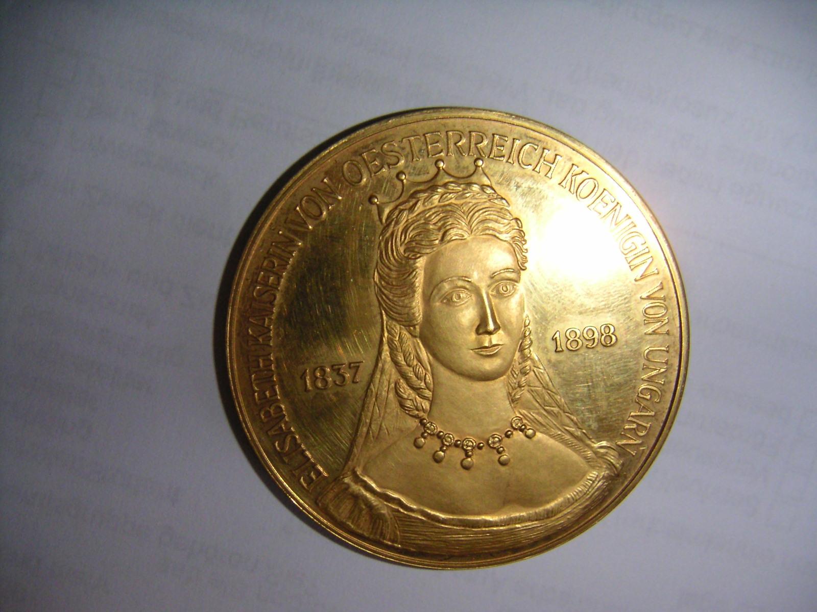 Medaille Elisabeth Kaiserin Von österreich