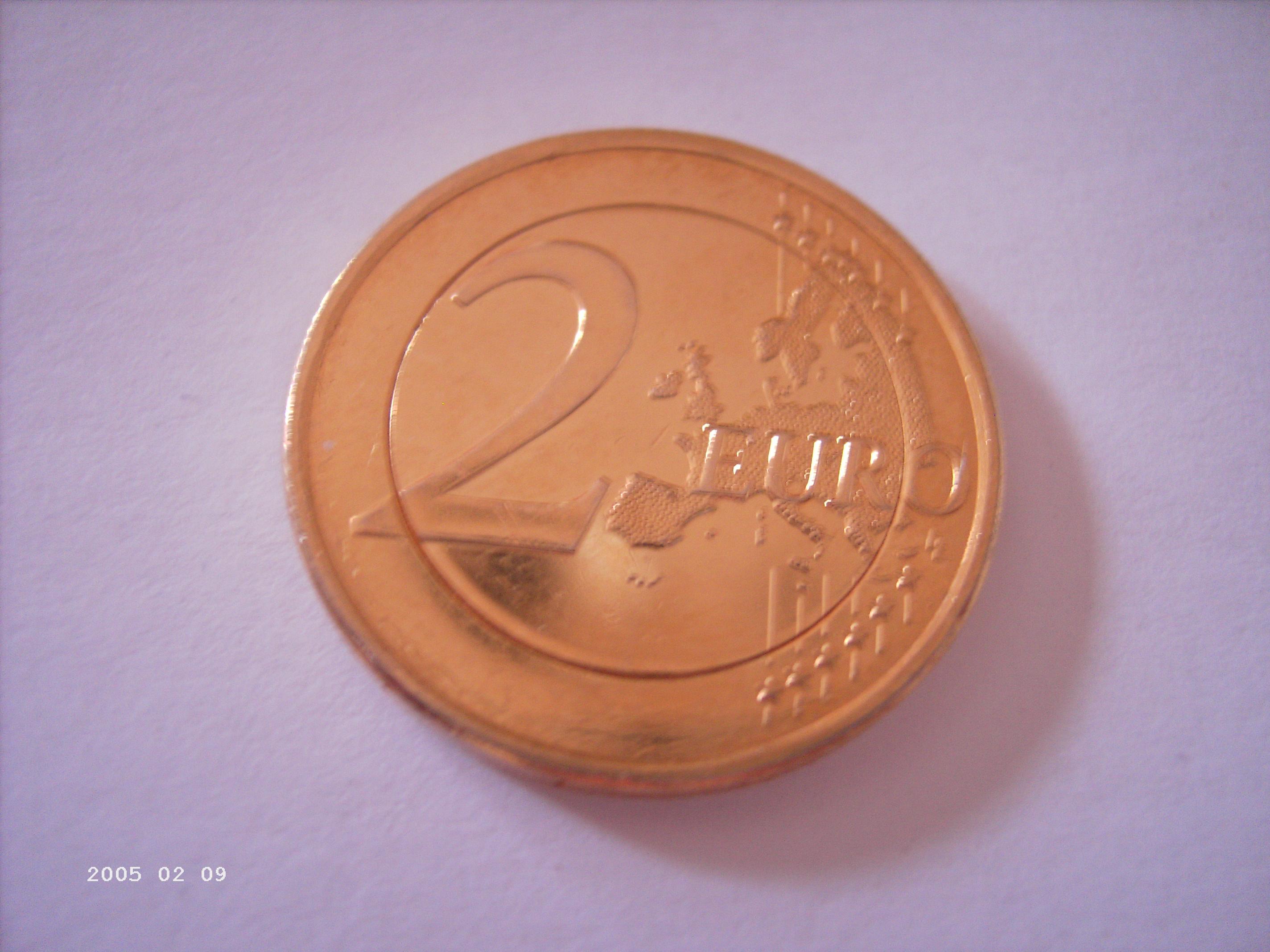 2 Münze Komplett Goldfarben