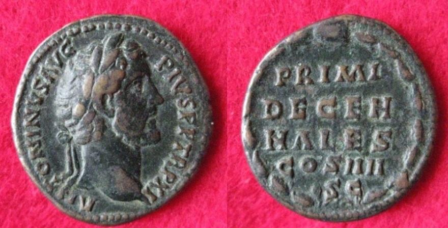 RIC 872 Sesterz, 150-151 Rom, (1).JPG
