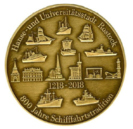 Medaille 800 Jahre Hanse Und Universitätsstadt Rostock