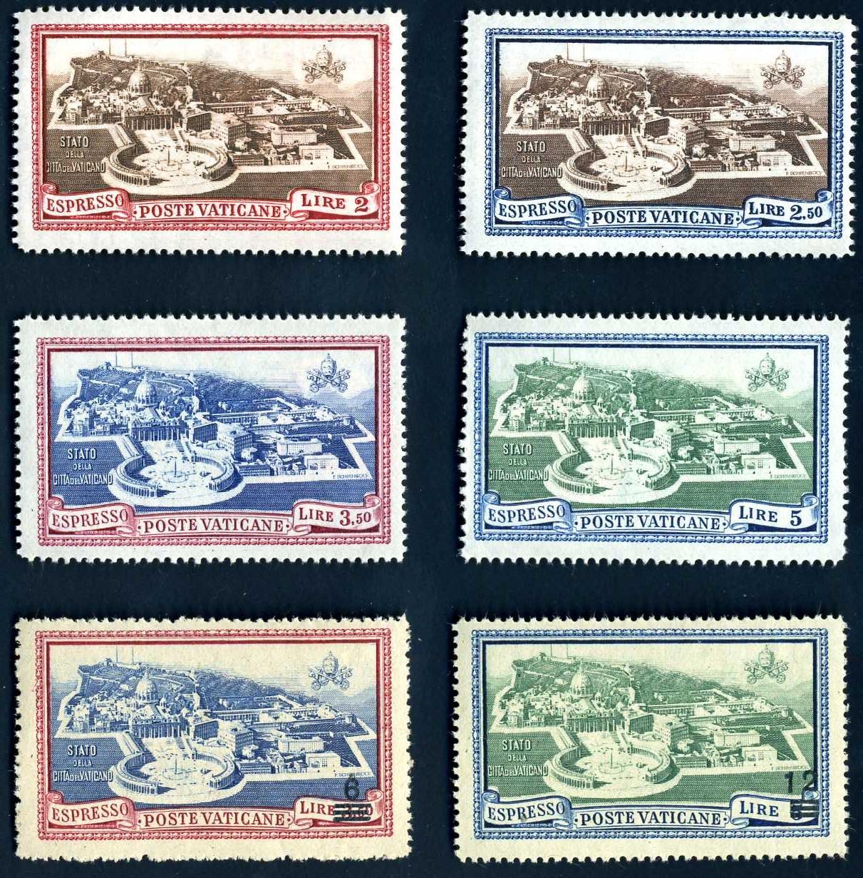 VA 006 1933 Vatikanstaat Satz.jpg