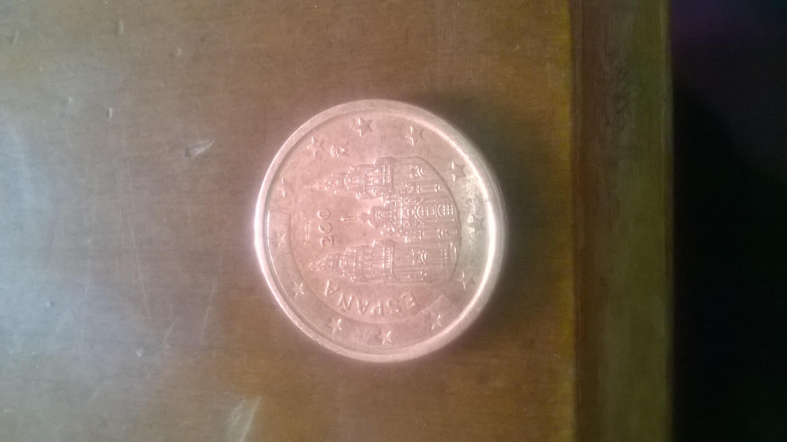 Fehlprägung 2 Cent Spanien
