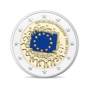 2 Euro Frankreich 2015 - 30 Jahre Europaflagge - In Pp