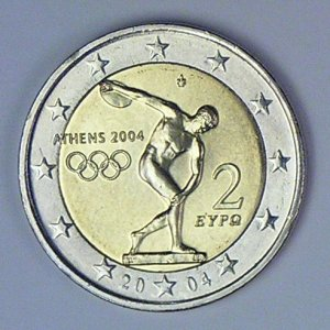 2 Euro  Olympiade Griechenland 2004