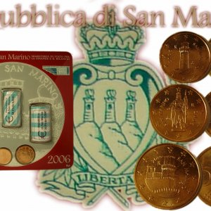 San Marino Mini Kit 2006 - BU - 1, 2, 5 Cent