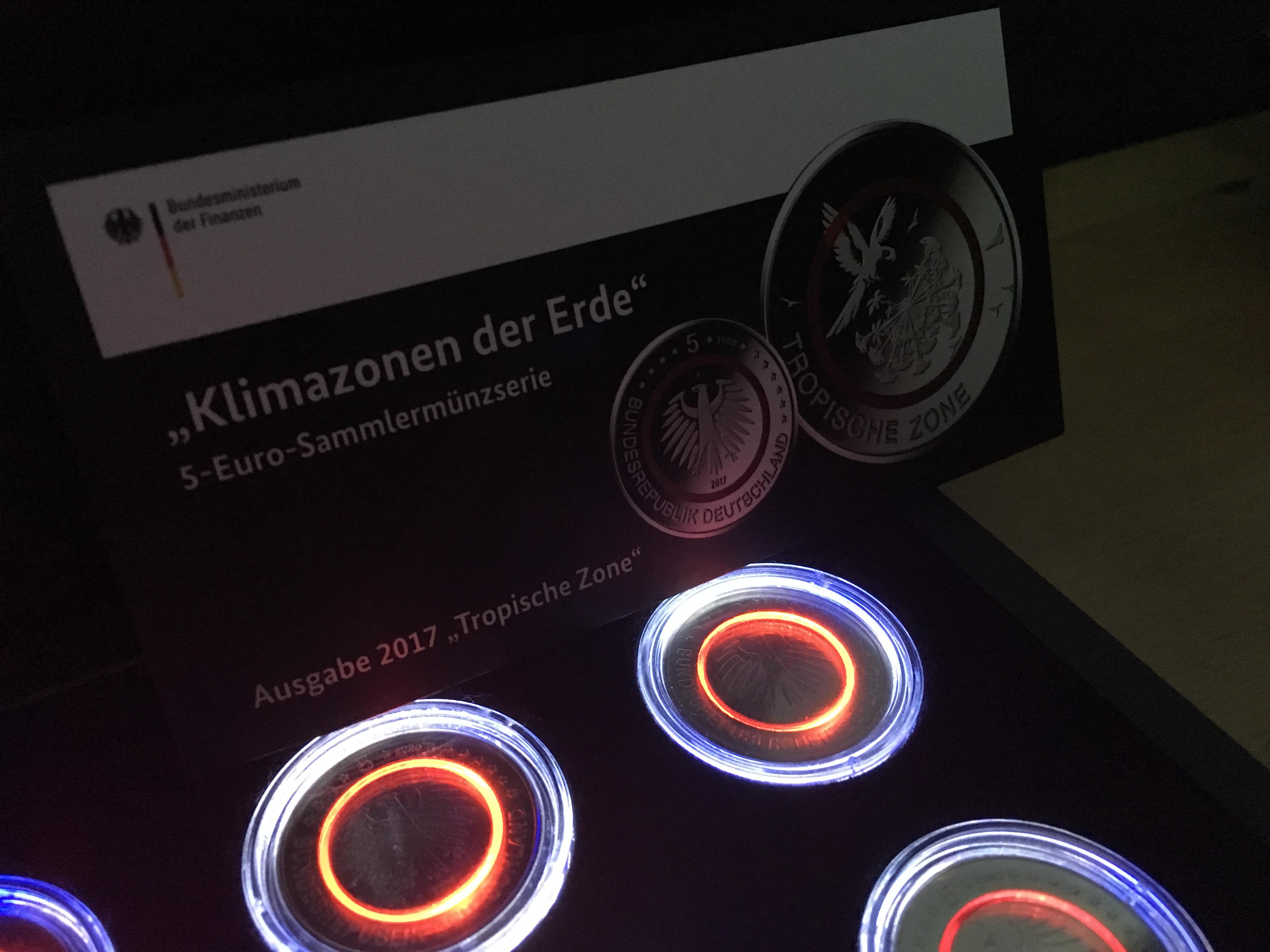 Eine Möglichkeit Die Neue 5 Euro Münze Zu Beleuchtenzu