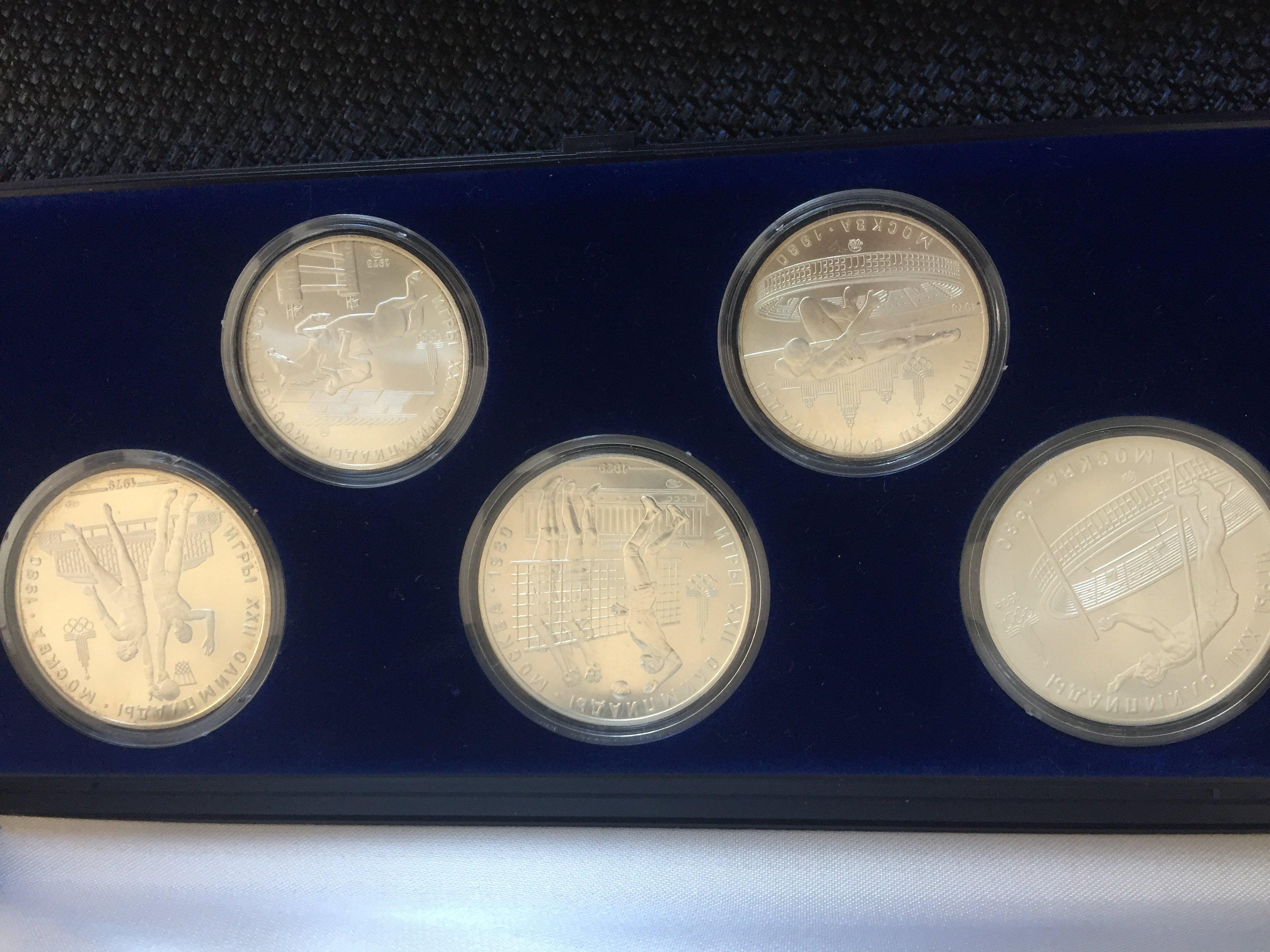 Olympia Münzen 1980 Moskau
