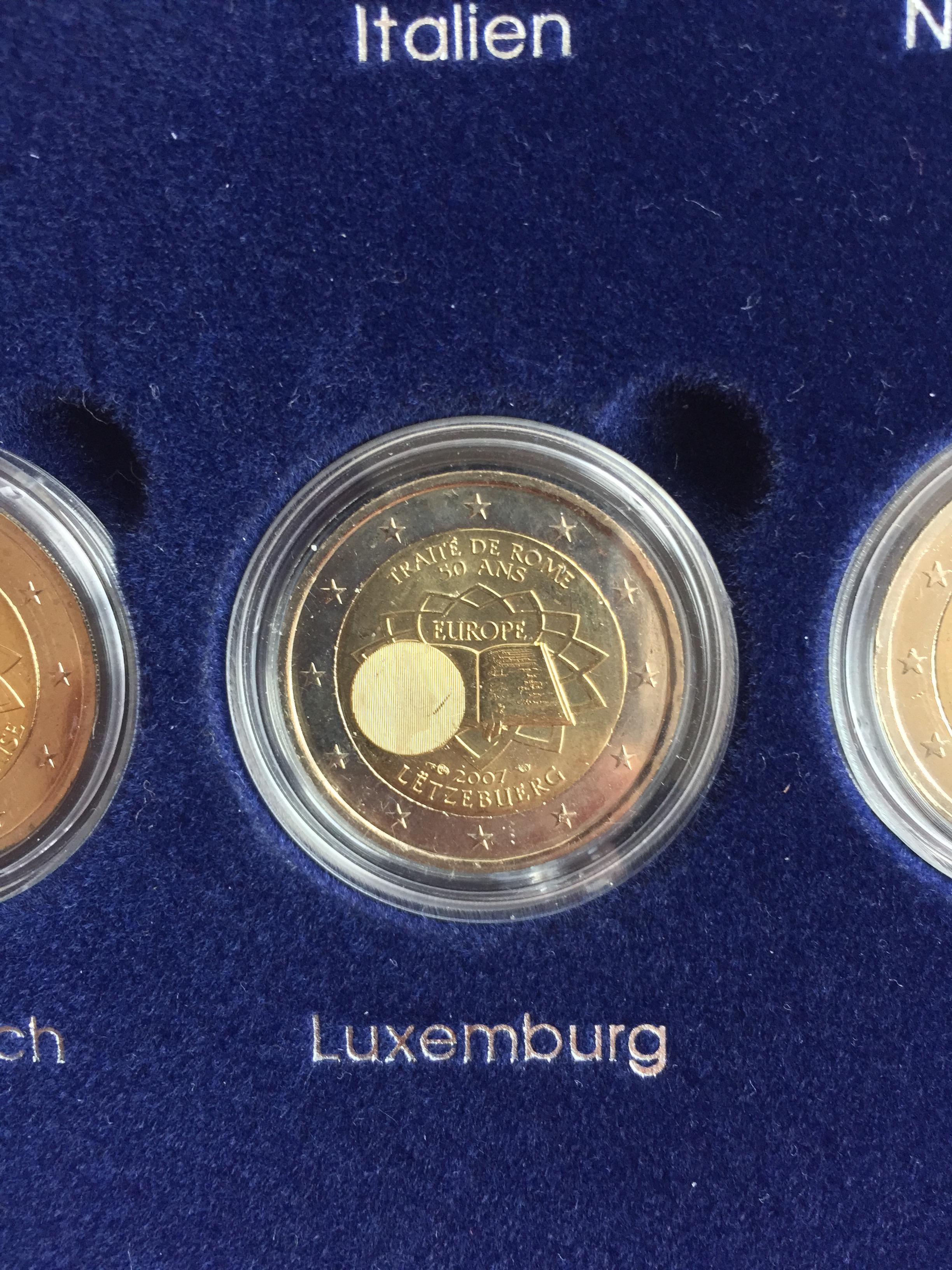 2 Münze Römische Verträge Fehlprägung