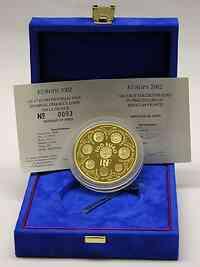 Frankreich : 100 Euro Europa-Münze, inkl. Originaletui und Zertifikat - Auflage nur 99 Stück - 5 Unzen Gold !  2002 PP
