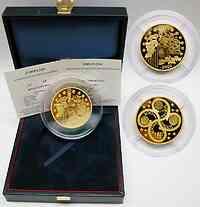 Frankreich : 100 Euro Europa-Münze, inkl. Originaletui und Zertifikat - Auflage nur 99 Stück - 5 Unzen Gold !  2003 PP