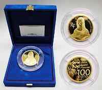 Frankreich : 100 Euro Mona Lisa, inkl. Originaletui und Zertifikat,  Auflage nur 99 Stück - 5 Unzen Gold !  2003 PP