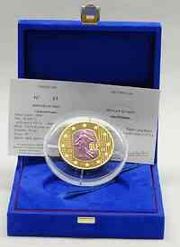 Frankreich : 100 Euro Abschaffung der Todesstrafe blaues/lila Gold inkl. Originaletui und Zertifikat  2006 PP 100 Euro Säerin 2006