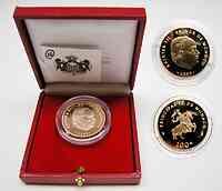 Monaco : 100 Euro Rainier III. + Albert inkl. Originaletui und Zertifikat  2003 PP
