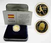 Spanien : 100 Euro zur Fußball WM in Deutschland inkl. Etui und Zertifikat  2003 Stgl.
