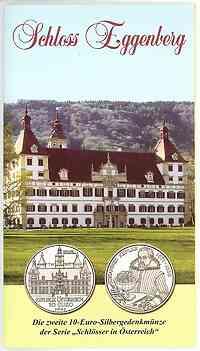 Österreich : 10 Euro Schloß Eggenberg im Originalblister  2002 Stgl.