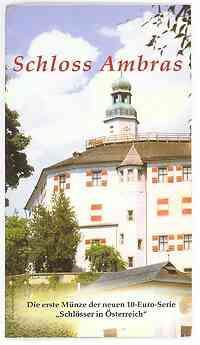 Österreich : 10 Euro Schloß Ambras im Originalblister  2002 Stgl.