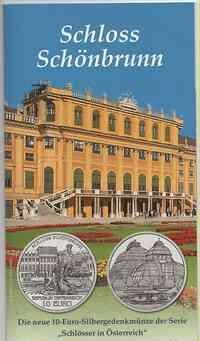 Österreich : 10 Euro Schloß Schönbrunn im Originalblister  2003 Stgl.