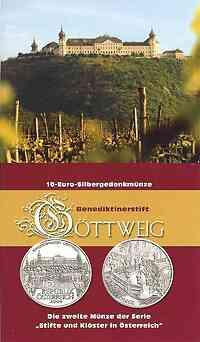 Österreich : 10 Euro Stift Göttweig im Originalblister  2006 Stgl. 10 Euro Stift Göttweig